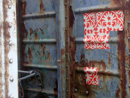 Azulejos de papel em La Plata