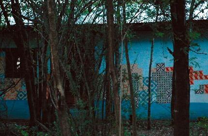 Azulejos de papel em Pluja/Argentina