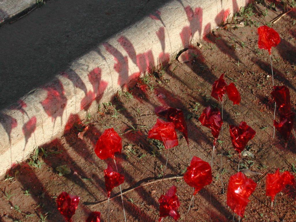 Detalhe da intervenção urbana Jardim do Grupo Poro
