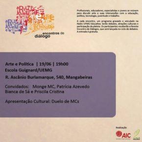 """Lançamento da publicação """"Encontros de diálogo - Arte e Política"""""""