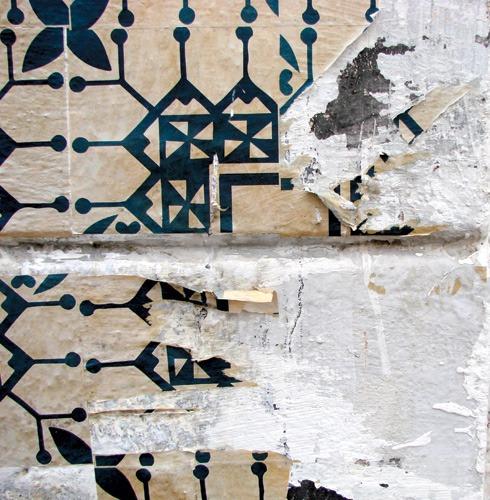 Azulejos de papel - Detalhe (Poro)