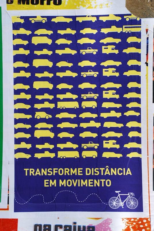 Transforme distância em Movimento - Cartaz Lambe-lambe do Poro