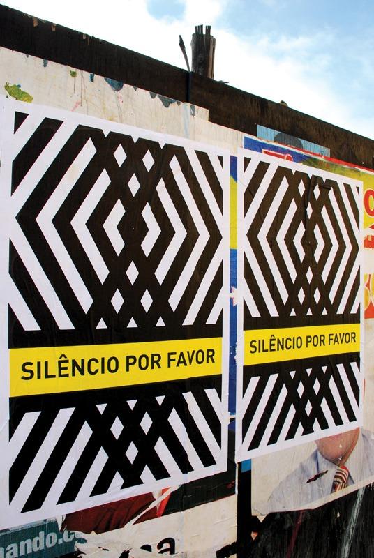 Cartaz Silêncio por favor (Poro)