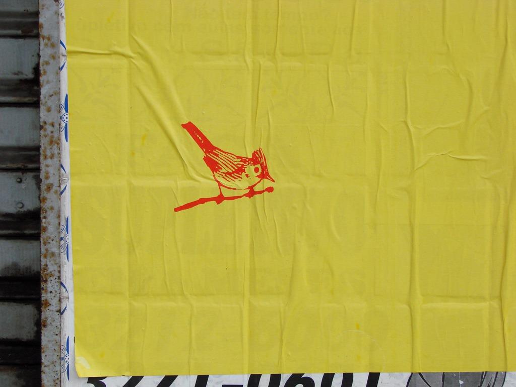 Detalhe do cartaz Contra as palavras de ordem, lambe-lambe do Grupo Poro