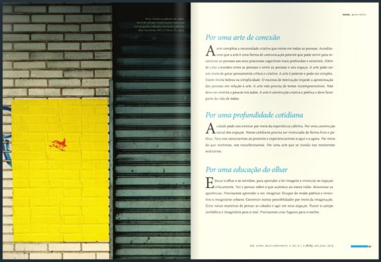 Poro na Revista da UFMG especial sobre Cidades