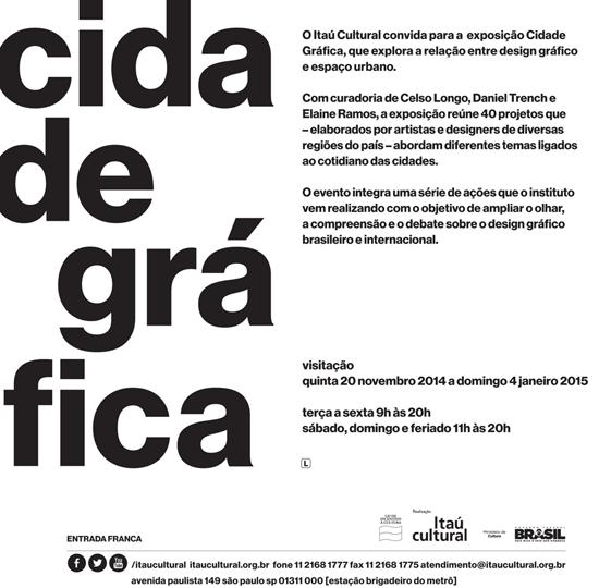 Exposição Cidade Gráfica ItauCultural