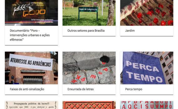 Site do Grupo Poro - Intervenções Urbanas