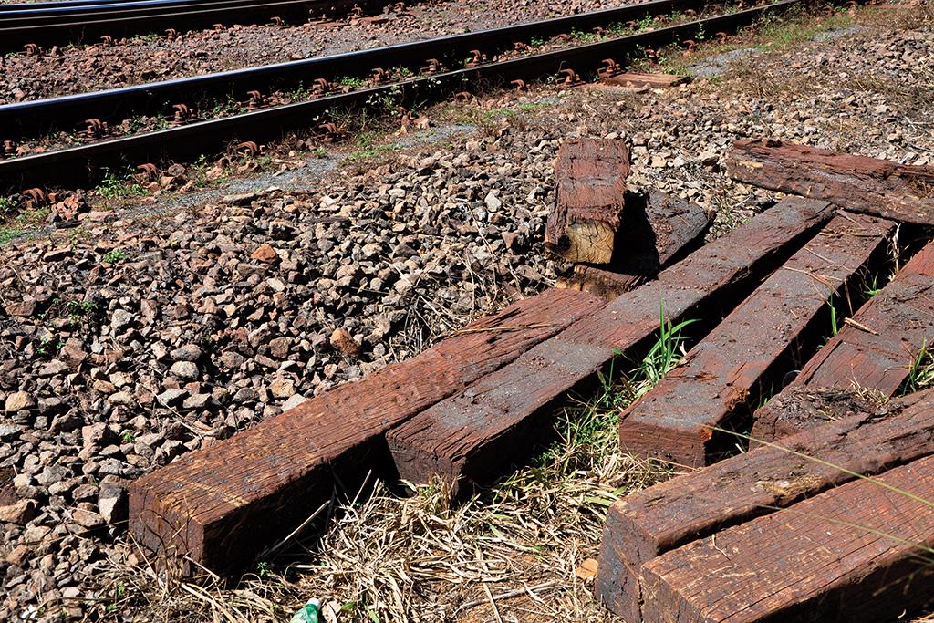 Madeiras usadas nas linhas de ferro