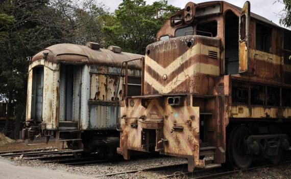 Antigos trens das ferrovias de Minas Gerais
