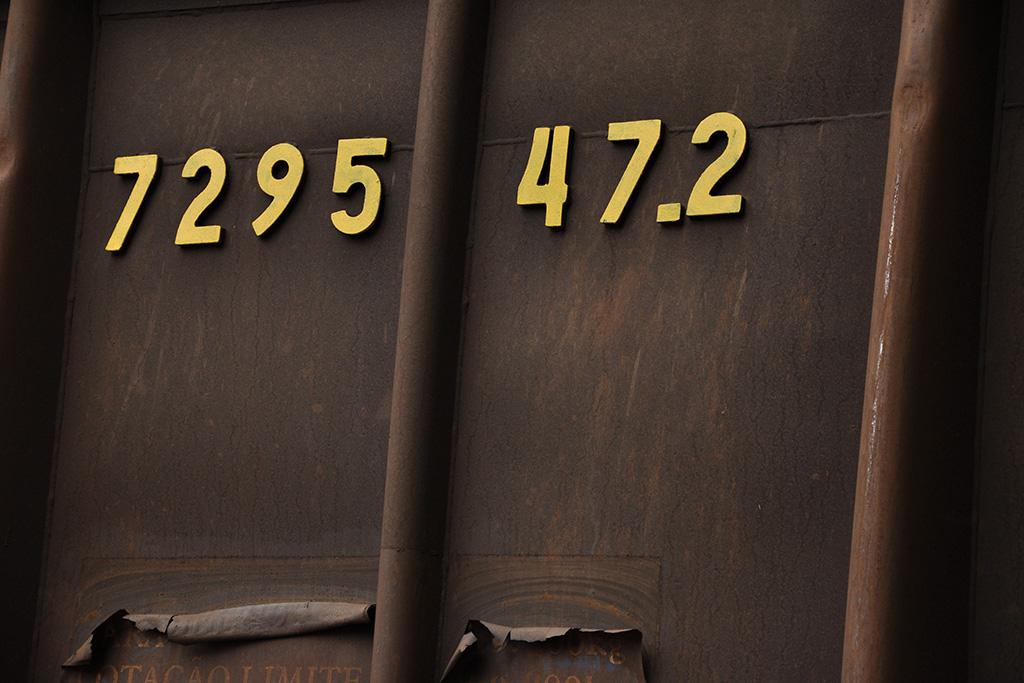 Detalhe de vagão de trem em Minas Gerais (Poro)