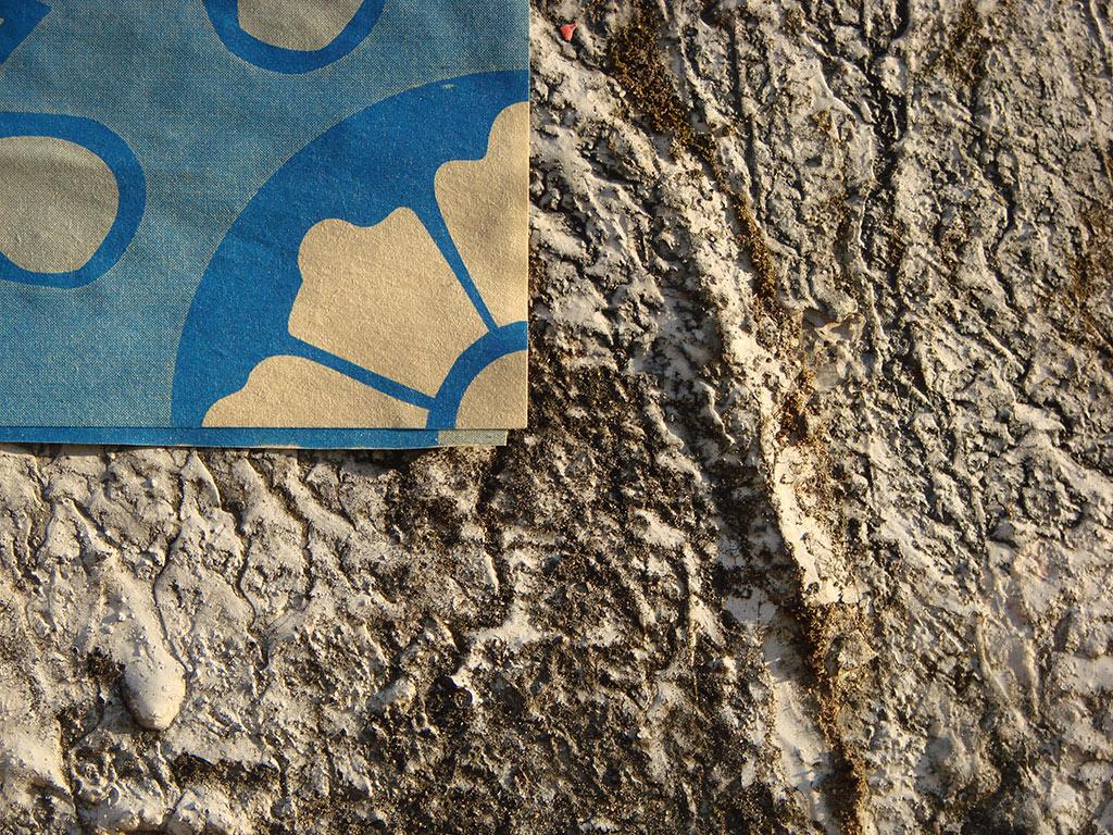 Detalhe de um Azulejo de Papel em parede (Grupo Poro)